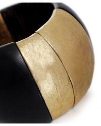 Monies - Gray Chunky Palmwood Ebony Bracelet - Lyst