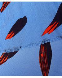 KENZO - Blue Bamboo Scarf - Lyst