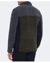 Napapijri - Black Thorne Fleece Jacket for Men - Lyst