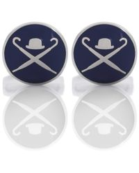 Hackett - Blue Domed Logo Cufflinks for Men - Lyst