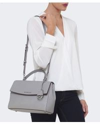 MICHAEL Michael Kors | Gray Ava Medium Satchel Bag | Lyst