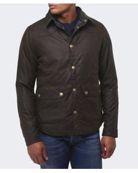 Barbour - Green Reelin Wax Jacket for Men - Lyst