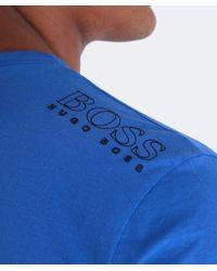 BOSS Green - Blue Regular-fit T-shirt In Single Jersey for Men - Lyst
