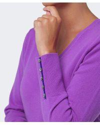 Cocoa Cashmere | Purple V Neck Cashmere Jumper | Lyst
