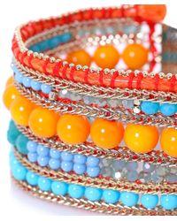 Butterfly - Orange Beaded Columbia Road Cuff Bracelet - Lyst