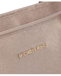 MICHAEL Michael Kors - Pink Jet Set Travel Metallic Tote Bag - Lyst