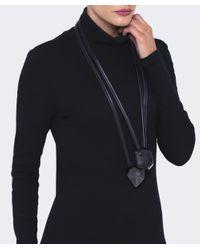 Monies - Black Oversized Resin Necklace - Lyst
