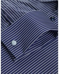 Eton of Sweden - Blue Bold Stripe Shirt for Men - Lyst