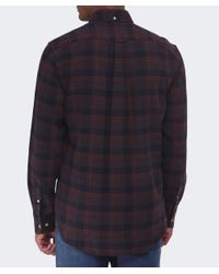 Gant - Brown Merrick Oxford Check Shirt for Men - Lyst