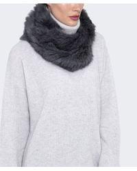 Yves Salomon - Gray Fur Loop Scarf - Lyst