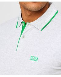 BOSS - Natural Slim Fit Paul Polo Shirt for Men - Lyst