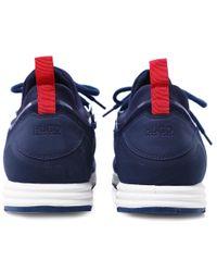 HUGO - Blue Hybrid_runn_mxsc Trainers for Men - Lyst