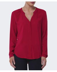 Velvet By Graham & Spencer | Red Kinzly Challis Top | Lyst