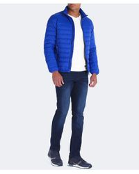 Armani Jeans | Blue Padded Down Jacket for Men | Lyst