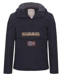 Napapijri - Black Hooded Thermal Rainforest Jacket for Men - Lyst