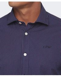 Armani Jeans - Blue Shirt In Cotton Poplin for Men - Lyst