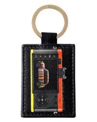 Paul Smith - Black Saffiano Leather Leica Mini Keyring - Lyst