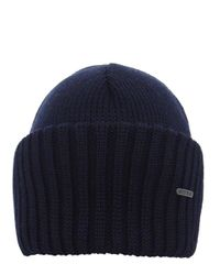 Stetson - Blue Merino Wool Beanie Hat for Men - Lyst