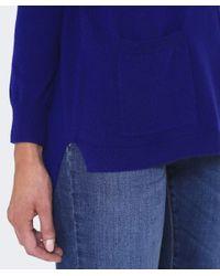 Cocoa Cashmere - Blue Cashmere Pocket Jumper - Lyst