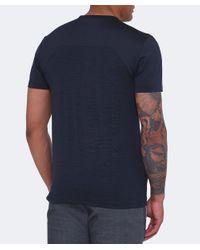 BOSS Green - Blue Slim Fit Tianotech T-shirt for Men - Lyst