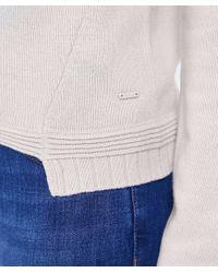 Armani Jeans - Gray Wool Drawstring Detail Jumper - Lyst