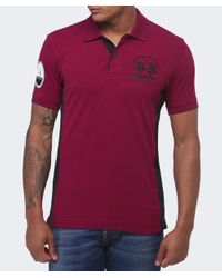 La Martina - Purple Slim Fit Maserati Polo Shirt for Men - Lyst