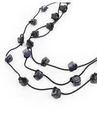 Jianhui - Multicolor Three Strand Ceramic Bead Necklace - Lyst