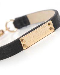 Marc Jacobs - Black Supply Leather Bracelet - Lyst