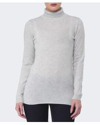 Duffy - Gray Cashmere Roll Neck Jumper - Lyst