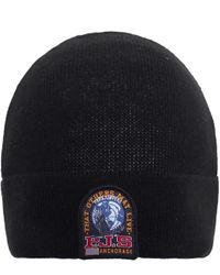 Parajumpers - Black Wool Blend Beanie Hat for Men - Lyst