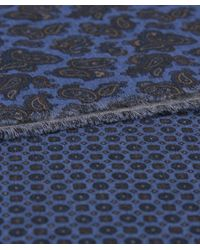 Jules B - Blue Paisley Cotton Scarf for Men - Lyst