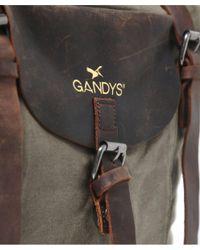 Gandys - Black Waxed Standard Weekend Bag for Men - Lyst