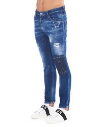 DSquared² - Blue 'skater' Jeans for Men - Lyst