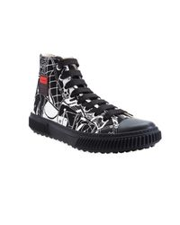Prada - Black Comics High Top Sneaker for Men - Lyst