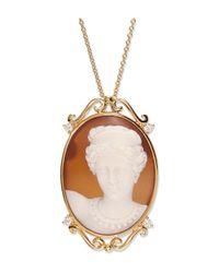 Wilfredo Rosado - Yellow Baroque Woman Cameo Necklace - Lyst
