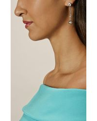 Karen Millen - Multicolor Quantum Crystal Drop Earrings - Km - Lyst