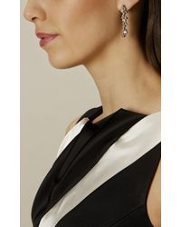 Karen Millen - Metallic Evolution Crystal Drop Earring - Lyst