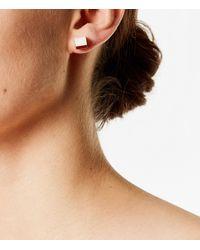 Karen Millen - Pink Geo Cube Stud Earrings - Lyst