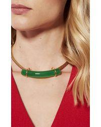 Karen Millen - Metallic Statement Stone Necklace - Gold Colour - Lyst
