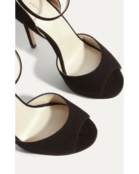 Karen Millen - Jewel Encrusted Suede Sandals - Black - Lyst