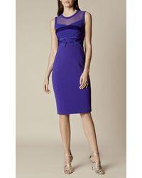 Karen Millen - Origami Pencil Dress - Blue - Lyst