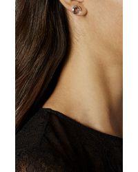 Karen Millen - Metallic Axial Stud Earrings - Silver Colour - Lyst