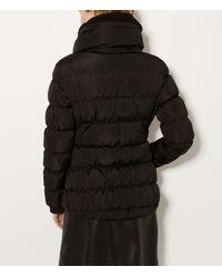 Karen Millen - Feather Padded Waist Coat - Black - Lyst