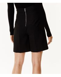Karen Millen - Black Belted City Shorts - Lyst