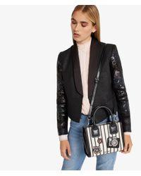Karl Lagerfeld - Black K/klassik Sparkle Mini Tote - Lyst