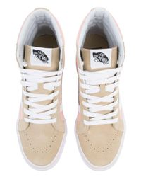 Vans - Pink The Women's Sk8-hi Lite In Pale Khaki And True White - Lyst