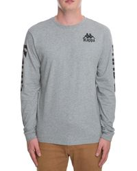 55800a15 Lyst - Kappa The Authentic Ruiz Long Sleeve in Gray for Men