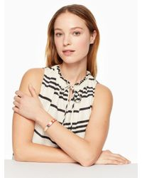 Kate Spade - Natural Idiom Bangles How Charming - Hinged - Lyst