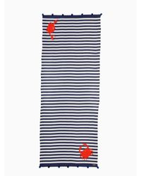 Kate Spade - Blue Hanging Crab Oblong - Lyst