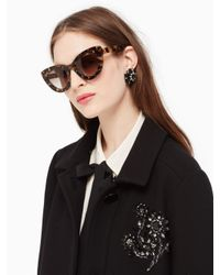 Kate Spade - Black Luann Sunglasses - Lyst